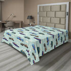 Ambesonne Car Theme Flat Sheet Top Sheet Decorative Bedding 6 Sizes