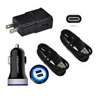 For Motorola Moto G6 Z2 Z3 Play G7 Power DROID Home Wall Car Plug Charger Cable