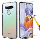 For LG Stylo 6 / 5 Phone Case Clear Slim Cover / Tempered Glass Screen Protector