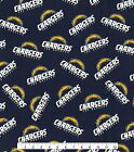 Los Angeles Chargers Fabric by the Yard or Half Yard, NFL Cotton Fabric, NFL Fab $11.25 USD on eBay