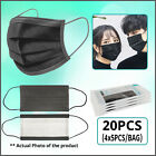 [SHIP FROM USA] Protective Face Mask (10/20/50PCS) (Black)