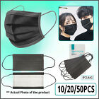 Kyпить [SHIP FROM USA] Protective Face Mask (10/20/50PCS) (Black) на еВаy.соm