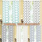 Geometric 100% Thermal Blackout Insulated Grommet Window Curtain Panel Heavy