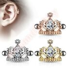 16G Gem Tiara Helix Cartliage Ear Piercing Cuff Barbell Body Jewellery