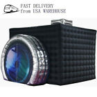 Black/White Camera Inflatable Photo Booth Inflatable Cube Tent with LED Lights