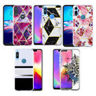 For Samsung Galaxy A11 Marble Hybrid Rubber Armor TPU Shockproof Case Cover