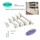 10pack Brushed Nickel Drawer Pulls Kitchen Cabinet Knobs Cabinet Door Hardware