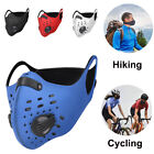 Cycling Sport Face Mask With Active Carbon Filters Breathing Valves Washable