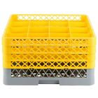 VARIATIONS 16-Compartment Gray Commercial Dishwasher Machine Glass Tray Rack