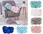 Knot Decorative Throw Pillow Pretzel Soft Plush Modern Large Home Cushion