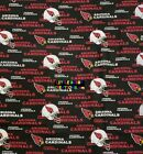 NFL ARIZONA CARDINALS Cotton Fabric - 1/4 Yard to 1 YARD - OOP $15.95 USD on eBay