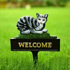 Sungmor Cast Iron Heavy Duty Garden Stake Dog Cat Welcome Sign