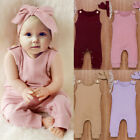 Newborn Baby Boys Girls Cotton Bodysuit Romper Jumpsuit Clothes Outfits Sunsuit