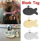 Anti-Lost Fish Shape Pet Tag ID Name Pendant Steel Stainless For Blank
