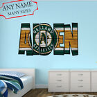 Oakland Athletics Wall Decal Art Custom Name Sticker Baseball Kids Mural NL46 on Ebay