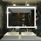 Anti-Fog Dimmable LED Bathroom Vanity Mirror Large Wall Makeup Mirror with Light