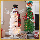 3 Ft. Lighted SNOWMAN or ELF Character Christmas Tree Cheerful Fun Holiday Decor
