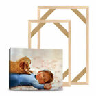 Natural Wood Canvas Frame For Oil Painting Wall Picture Sturdy Stretcher Bar DIY