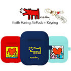 Genuine Keith Haring AirPods Keyring Jelly Case 1st 2nd Generation made in Korea