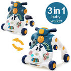 3 in 1 Baby Walker and Ride On Car with Music Sound Sit-to-Stand Walker Stroller