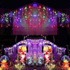 LED Christmas Fairy Icicle Curtain Lights Lamp Xmas Party In/Outdoor Connectable