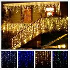 US 4M 96 LED Snowing Hanging Icicle Curtain Christmas Light Outdoor Indoor Light