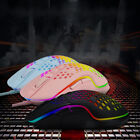 6400 DPI Optical Wired Honeycomb Hollow Mouse RGB Backlight Gaming Gamer Mice