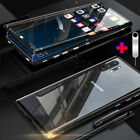 For Samsung Galaxy Note 10 Plus/Pro Magnetic Adsorption Tempered Glass Case