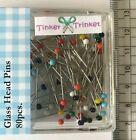 Berry pins good quality glass heads x80 mild steel Tailor Craft Sewing UK Seller