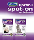 JOHNSONS FIPRONIL CAT FLEA & TICK SPOT-ON TREATMENT DROPS 5 15 30 WK