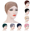 Women Stretch Cross Knot Turban Hat Head Wrap Chemo Bandana Muslim Hijab Caps