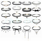 8-15pcs Set Cute Choker Necklace Cosplay Women Girls Jewelry