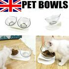 Single/Double Pet Bowls with Raised Stand Dog Cat Food Water Feeding Station UK