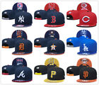 MLB Baseball Hat Flat Brim Team Embroidered Logo Snapback Caps Adjustable
