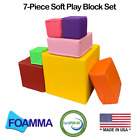 7, 10, 12 Pack Colored Soft Play Blocks Made with High Density Foam Made In USA