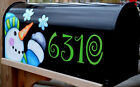 Mailbox Magnet Partial Cover Door Snowman Snowflakes Address Black Mail Box