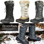 DREAM PAIRS Women's Faux Fur Warm Snow Boots Insulation Lace Up Mid Calf Boots