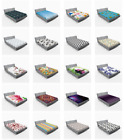 Ambesonne Soft Fitted Sheet Decor All Around Elastic Pocket