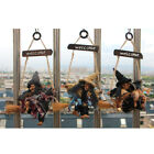 Halloween Broomstick Decor Tall Glamour Flying Witch Fancy Doll Prop Haunted