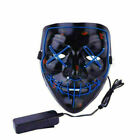 """Halloween Clubbing Light Up """"Stitches"""" LED Mask Costume Rave Cosplay Party IR"""
