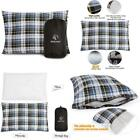 Outdoor Camping Pillow Lightweight, Flannel Travel Pillow Cases, Removable Cover