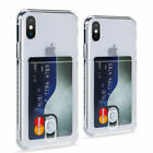 Card Slot Holder Slim Soft Case Cover Fits iPhone11 Pro Max 7 8 Plus XS Max XR