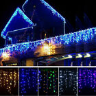 13ft-130ft 96 - 960 LED Snowing Hanging Icicle Curtain Light Outdoor Indoor Lamp