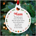 Mum Dad Nanny Wife Christmas Remembrance Heart PERSONALISED In Memory Decoration
