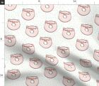 Piglet Pig Kawaii Food Animal Farm Animals Fabric Printed by Spoonflower BTY