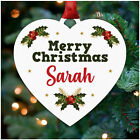 PERSONALISED Merry Christmas Tree Decoration for Family Mum Dad Nan Grandad Her