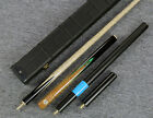 """Grand-Cues"" 58"" 3/4 Jointed Ash Shaft Black Ebony Handmade Snooker Cue Set@YP43"
