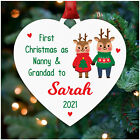 First Christmas As Nanny and Grandad Decoration PERSONALISED New Grandparents