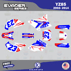 Yamaha Yz85 Graphics Decal Kit Evader Series Yz 85 2002-2014 - Red Blue