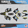 Yamaha YZ250 YZ125 Graphics Decal Kit  2002 to 2014 YZ 250  DIVISION-Yellow Blue